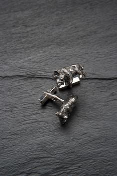 Manschettenknopf - Wildschwein (Silber)