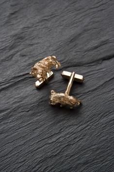 Manschettenknopf - Wildschwein (Gold)